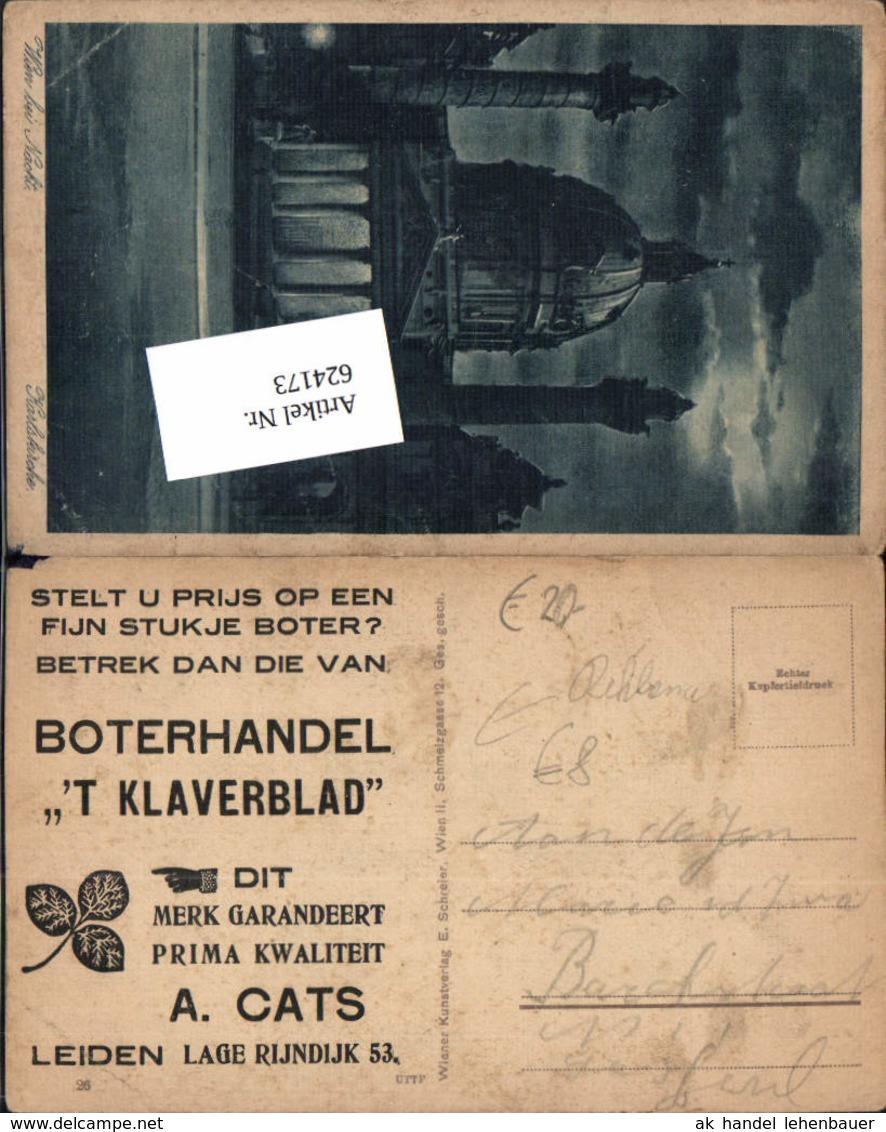 624173,Reklame AK Boterhandel `T Klaverblad Leiden Holland Butter - Werbepostkarten