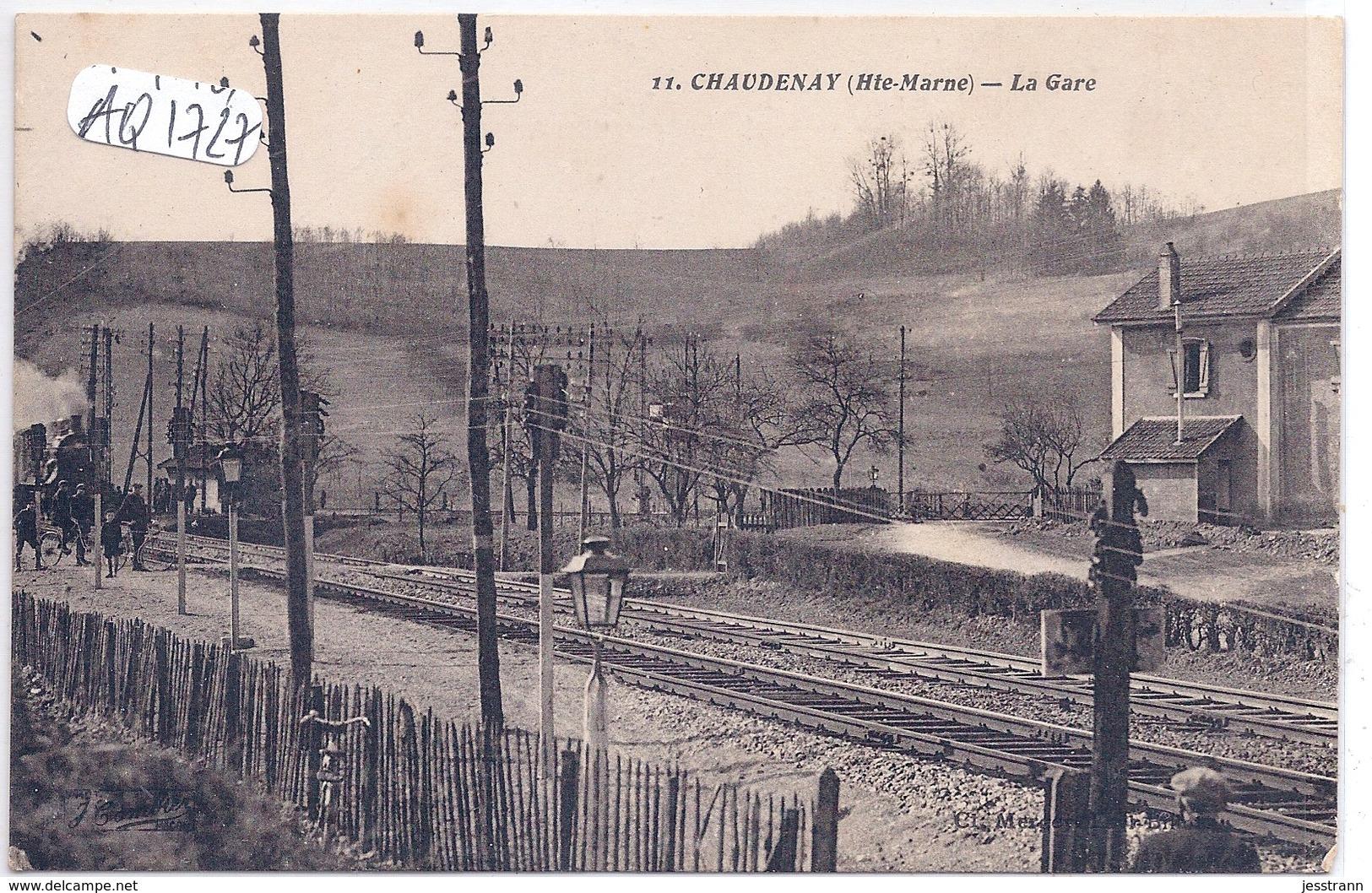 CHAUDENAY- LA GARE AVEC TRAIN- PLAN RARE - France