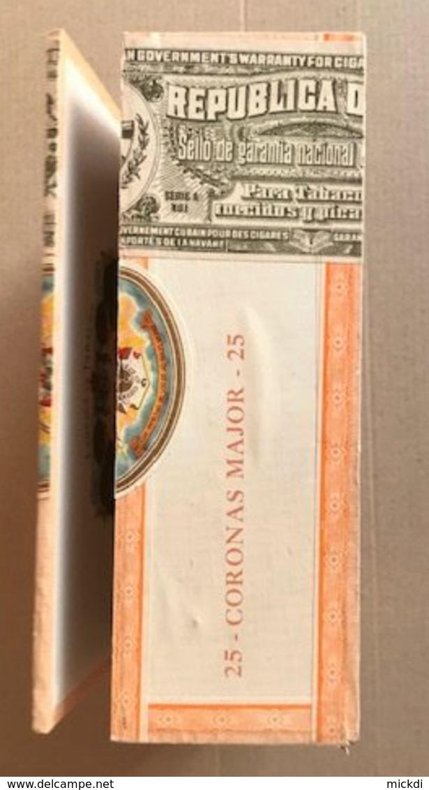 BOITE CIGARES HUPMANN EN BOIS LA HAVANE CUBA - 20 X 15 X 7,5 Cm - FIN ANNEES 1960 - 5 SCANS - Boites à Tabac Vides