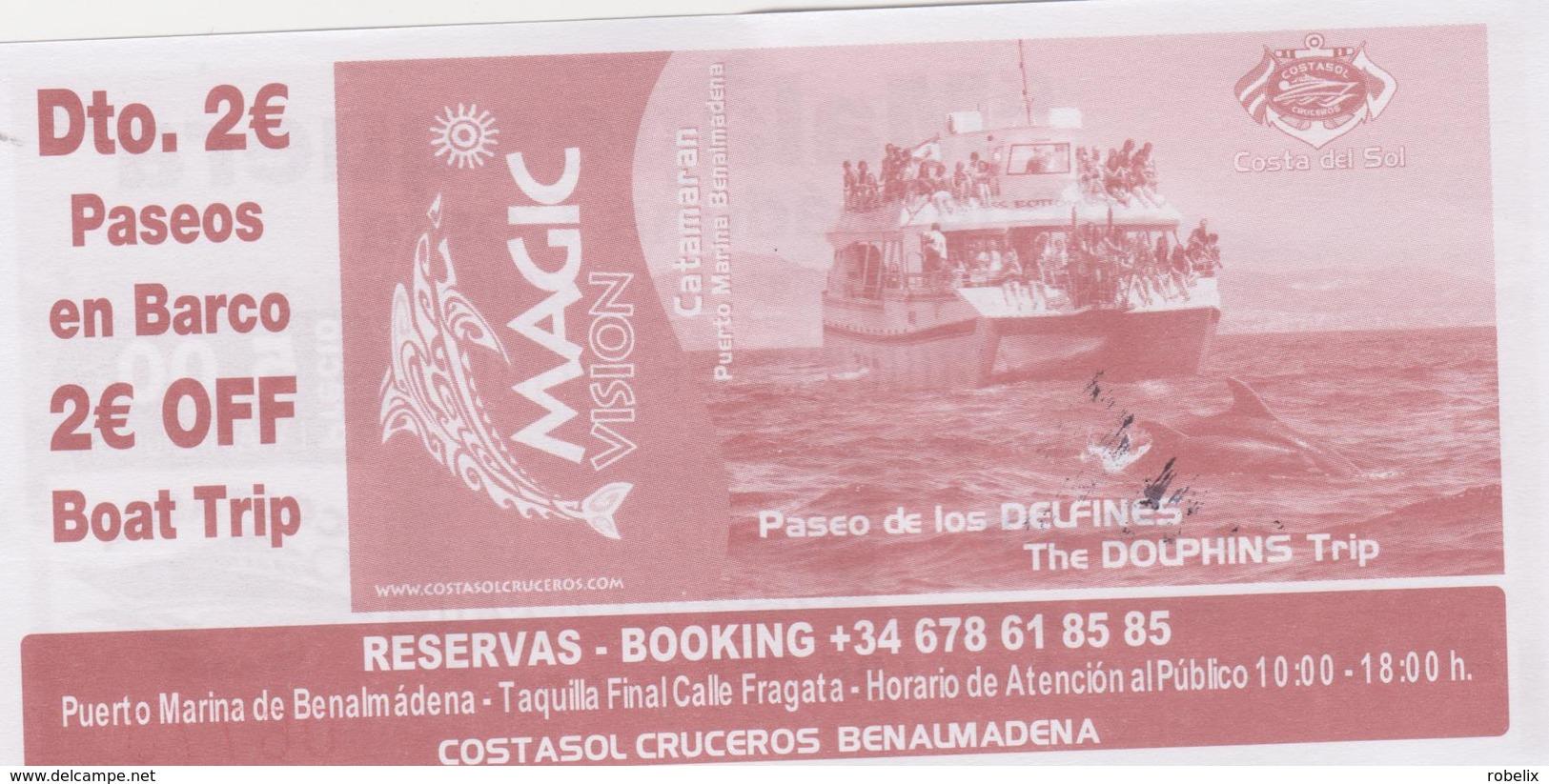 SPAIN-ESPAGNE -SPANIEN - COSTASOL - 2 X  Ticket For Boat Trip -voyage En Bateau   2 Scans - Europa