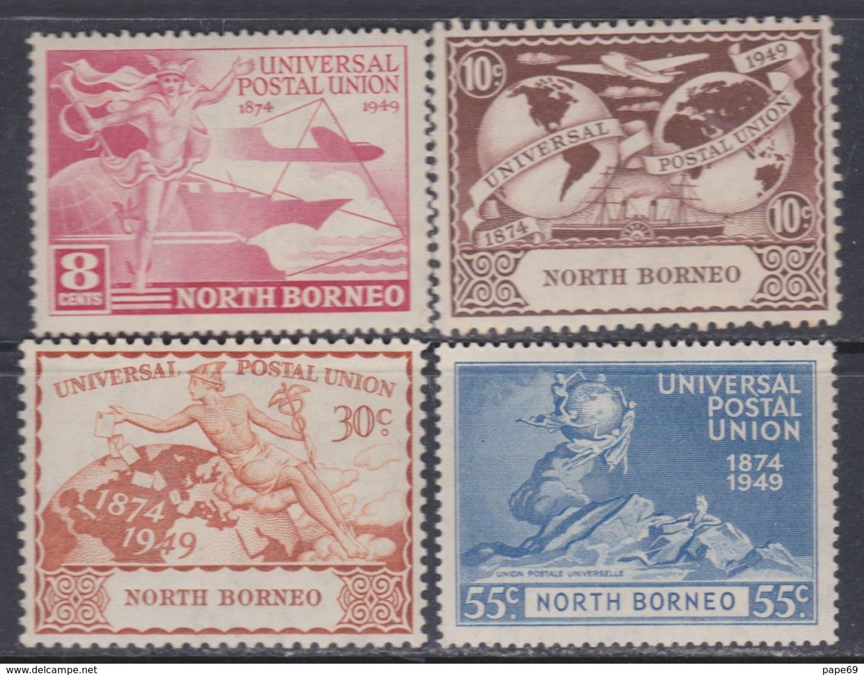 Bornéo Du Nord : Col. Britannique N° 276 / 79 X 75ème Anniversaire De L' U. P. U. Les 4 Vals Trace De Charnière Sinon TB - Bornéo Du Nord (...-1963)