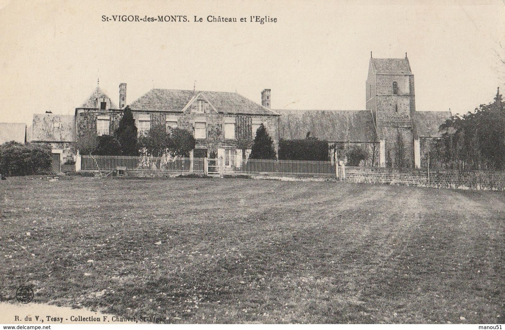 St VIGOR Les MONTS - Le Château Et L'Eglise - France
