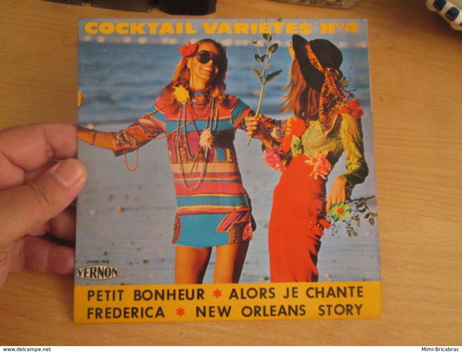 DISQUE 45 Tours Disque Pub VERNON Cocktail Variétés N°4 Petit Bonheur .. Alors Je Chante - Frederica - New Orleans Story - Compilaciones