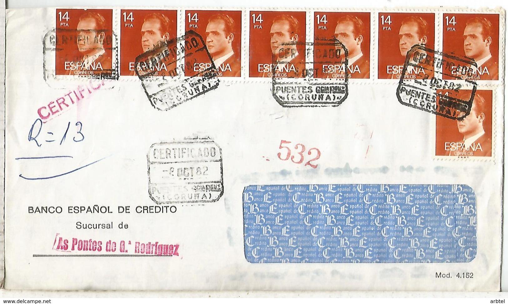 AS PONTES DE GARCIA RODRIGUEZ CORUÑA  C C CERTIFICADA SELLO BASICA - 1931-Hoy: 2ª República - ... Juan Carlos I