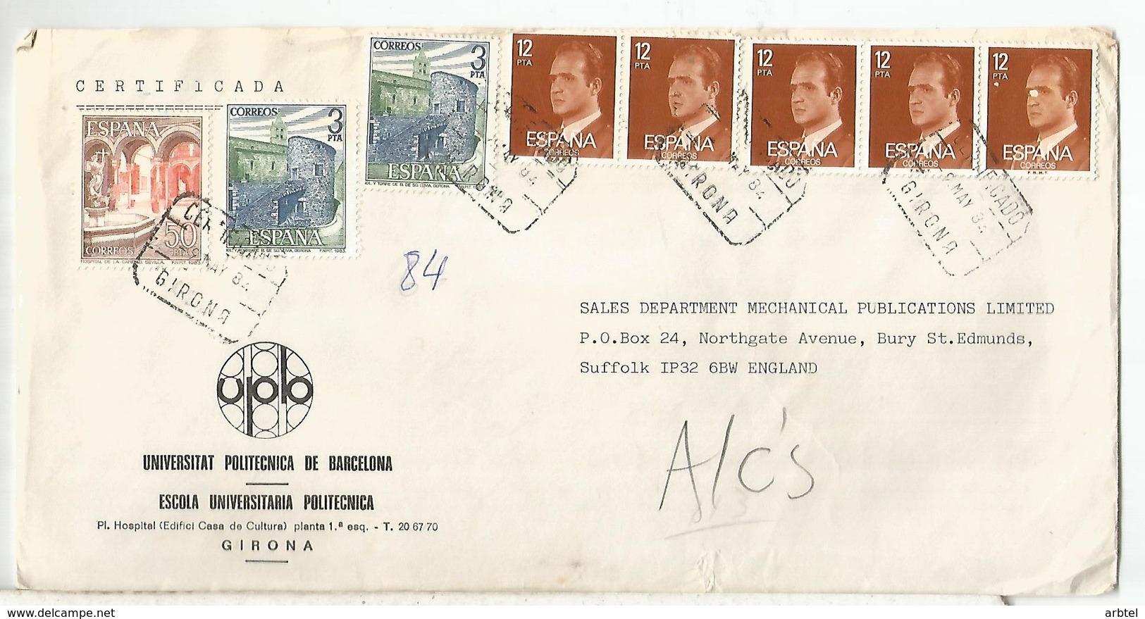 GIRONA  CC CERTIFICADA SELLOS BASICA ARQUITECTURA LLIVIA - 1931-Hoy: 2ª República - ... Juan Carlos I