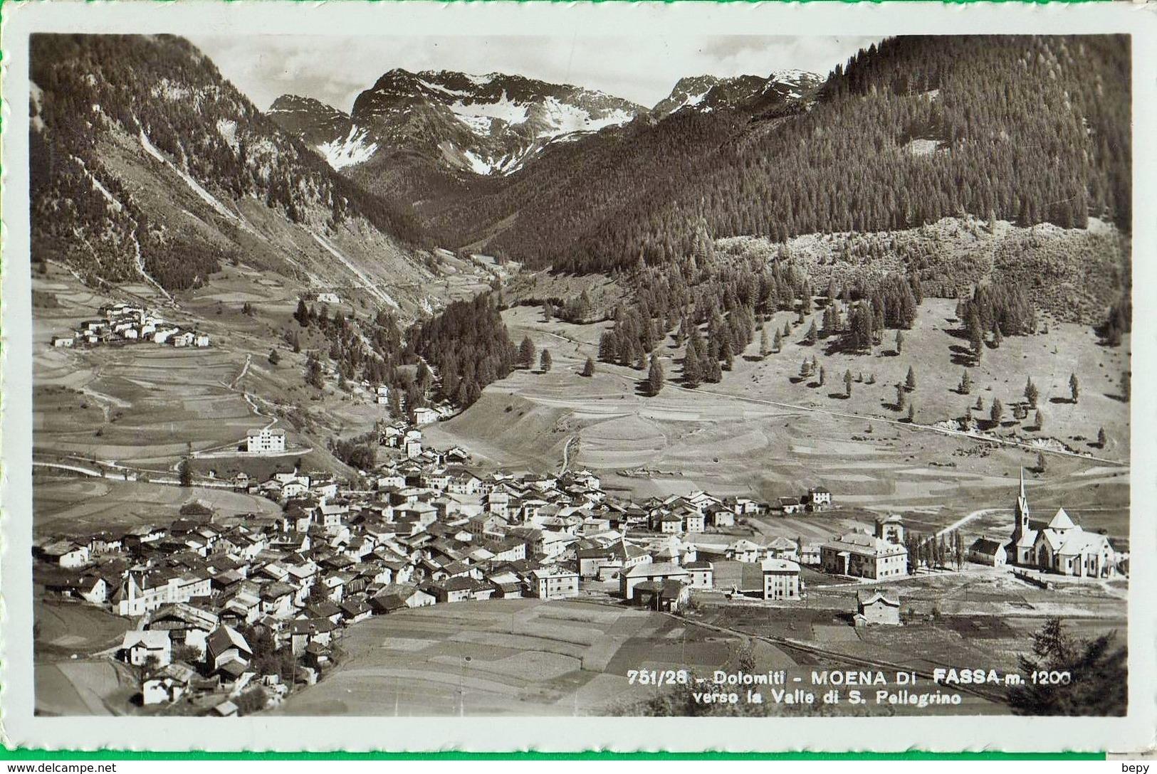 Cent 20. Itler/Mussolini. Due Popoli Una Guerra. MOENA DI FASSA. Dolomiti. VALLE SAN PELLEGRINO  .  877 - 1900-44 Victor Emmanuel III