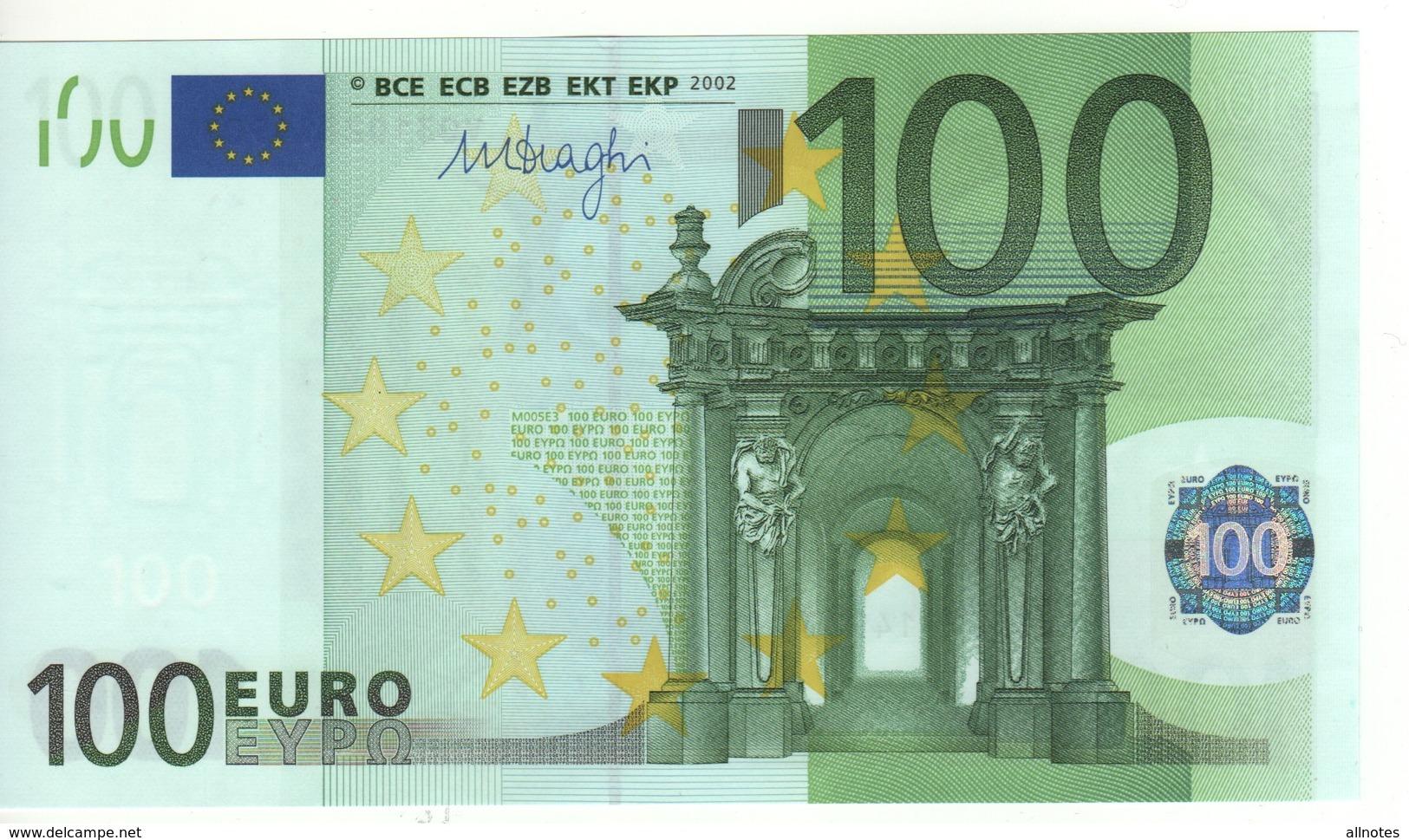 "100 EURO  ""V""   SPAIN    Firma DRAGHI   M 005 E3   /   FDS - UNC - EURO"