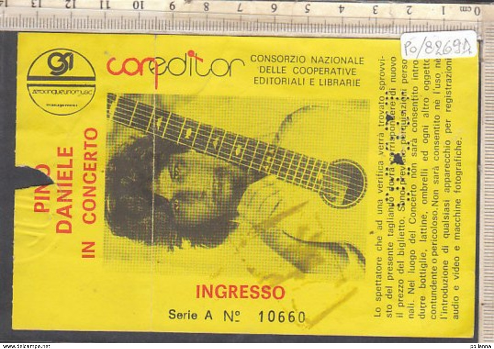 PO8269D# BIGLIETTO CONCERTO PINO DANIELE - Biglietti Per Concerti