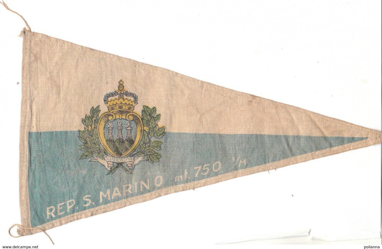 PO8924D# BANDIERINA SOUVENIR IN TELA Anni '50 - REPUBBLICA DI S.MARINO - Pubblicitari