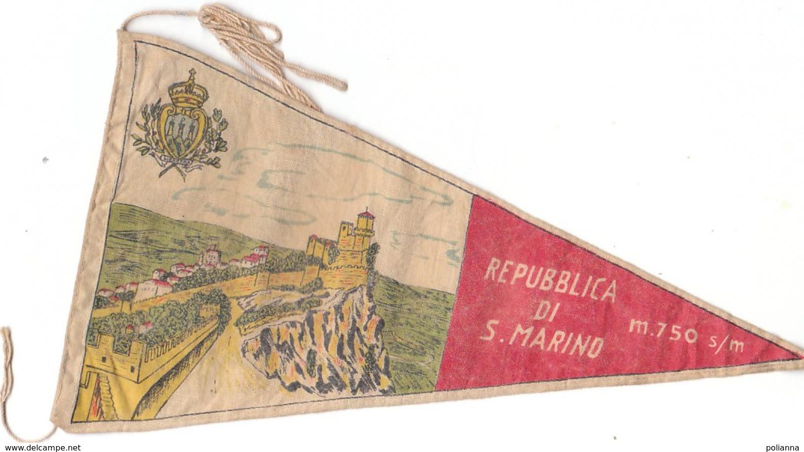 PO8925D# BANDIERINA SOUVENIR IN TELA Anni '50 - REPUBBLICA DI S.MARINO - Pubblicitari