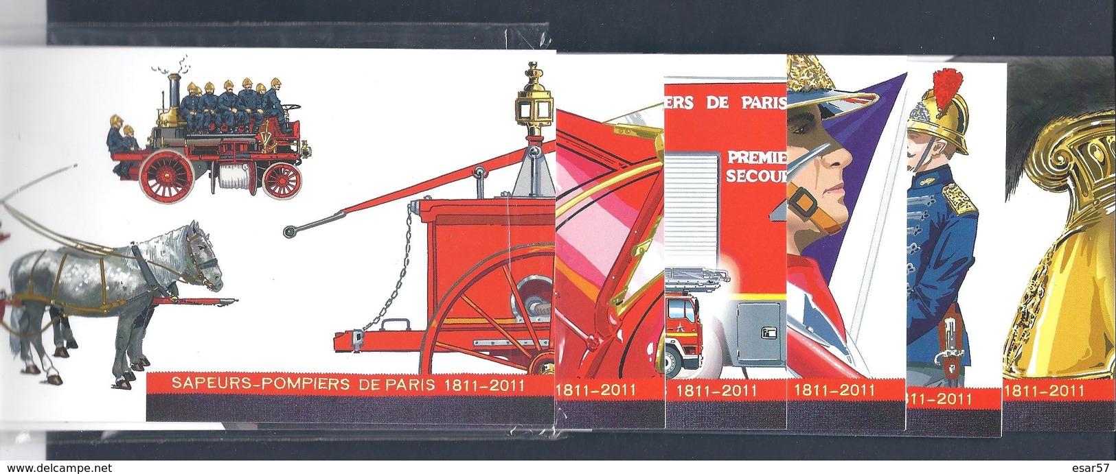 France Bloc Souvenir N° 59 à 64 BICENTENAIRE DE LA BRIGADE DES SAPEURS POMPIERS DE PARIS Ensemble 6 Blocs Blister Ouvert - Bloques Souvenir