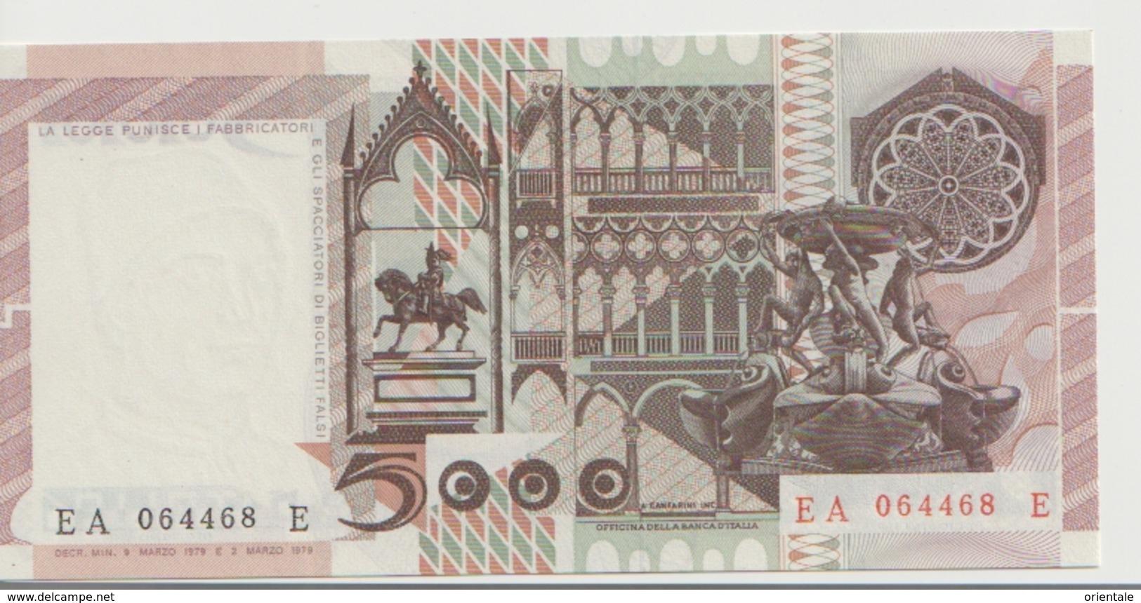 ITALY P. 105a 5000 L 1979    XF+ - [ 2] 1946-… : Repubblica