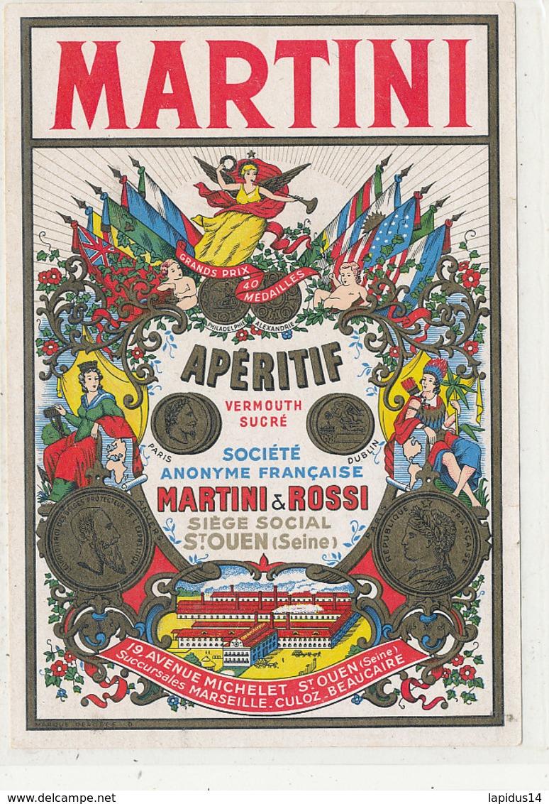 AN 499 / ETIQUETTE   MARTINI  APERITIF  ST OUEN (SEINE) - Labels