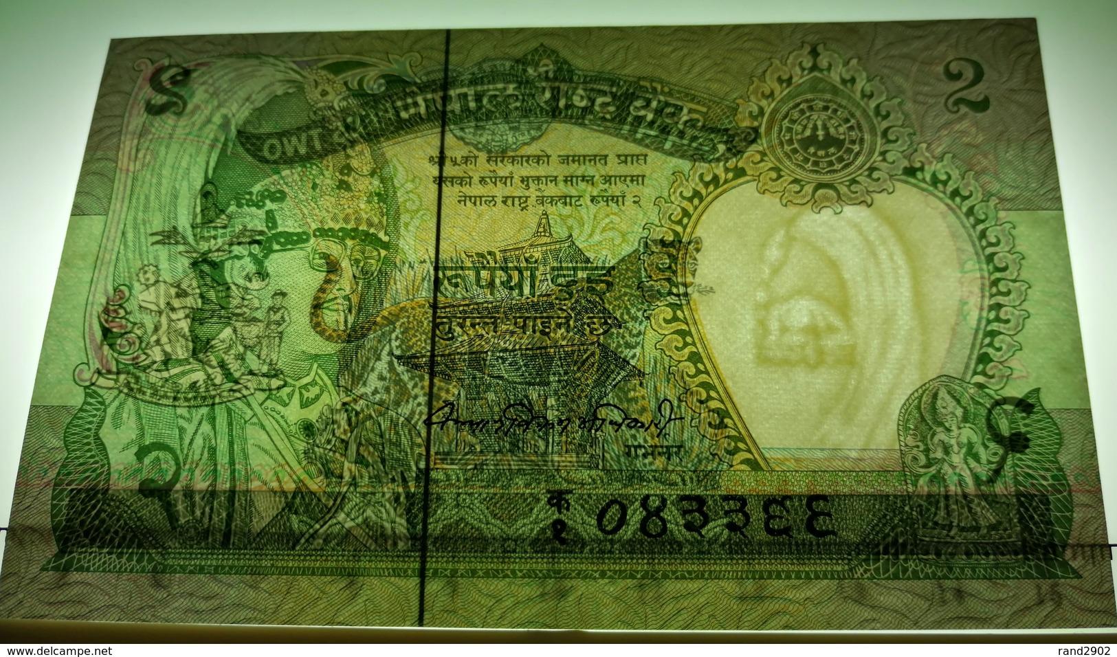 Nepal 2 Rupees 1981- (1) P-29a UNC /008B/ - Nepal