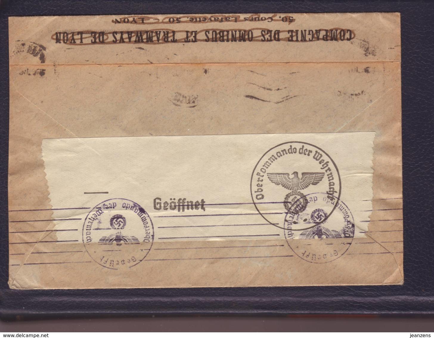 Lettre PG  De Villeurbanne 16.08.1940-> Berlin Renseignement Pour PG - Zensur/Censored/Censure   E - Guerre De 1939-45