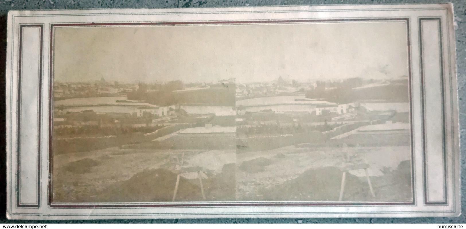 """Photo Stéréo PARIS - Notée Au Dos """" Vue De Paris """" C 1860 - Stereoscopio"""