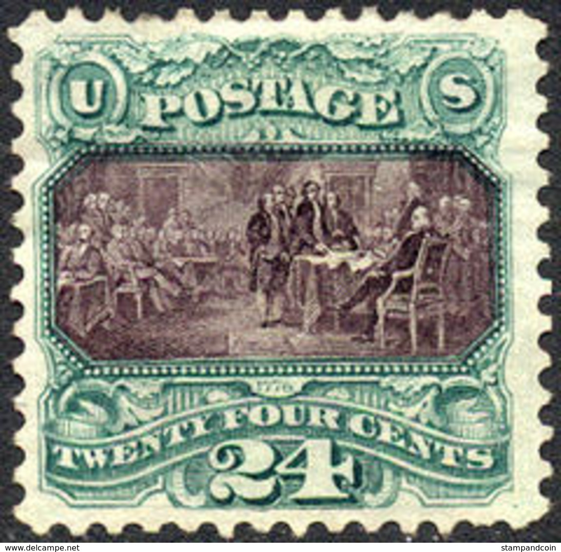 US #130 Mint No Gum  10c Re Issue 1875 Of The 1869 Issue   XF - Unused Stamps