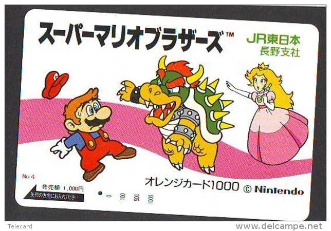 Carte Prépayée Japon * NINTENDO * SUPER MARIO BROS (83) JAPAN PREPAID CARD * Karte * TURTLE * JR - BD