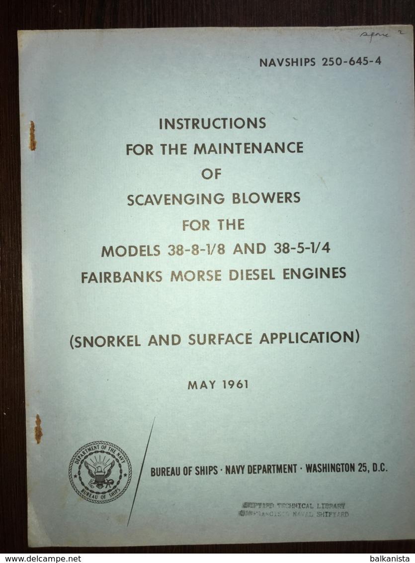 OS Navy Ships Fairbanks-Morse Diesel Engines 1961 - Forces Armées Américaines