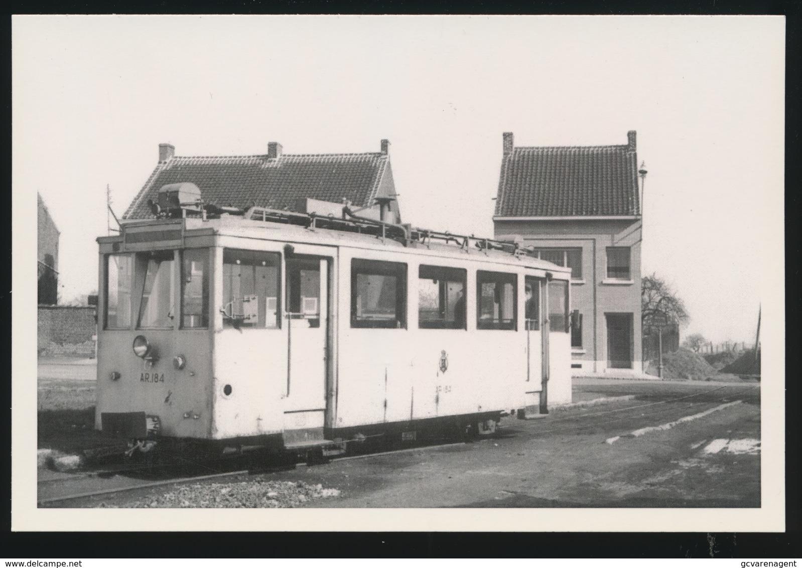 VIRGINAL VILLAGE   STATION VICINAL  -  - LIMITED EDITION 200 EX  1959  - 2 SCANS - Tramways
