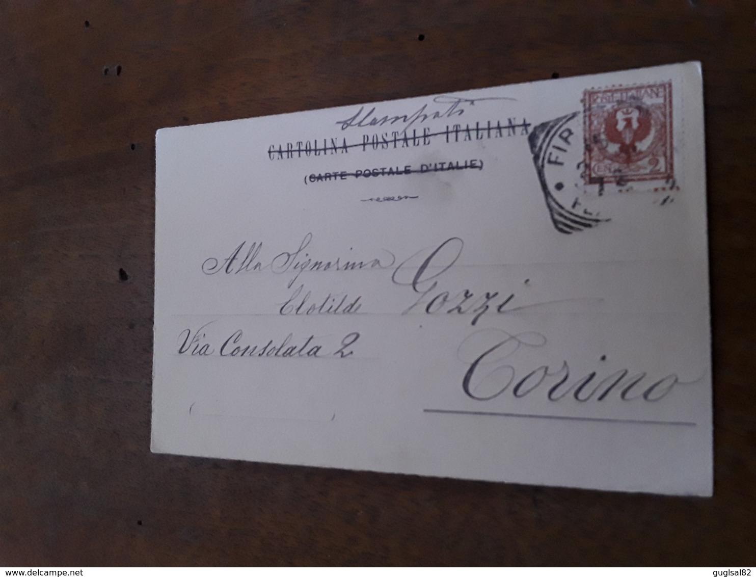 Cartolina Postale 1900, Firenze Piantina - Firenze (Florence)