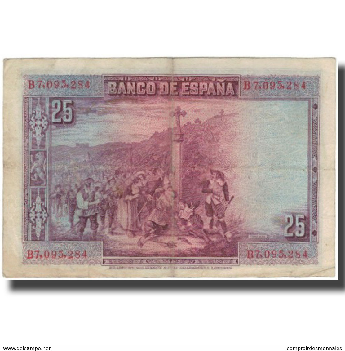 Billet, Espagne, 25 Pesetas, 1928-08-15, KM:74b, TTB - 1-2-5-25 Pesetas
