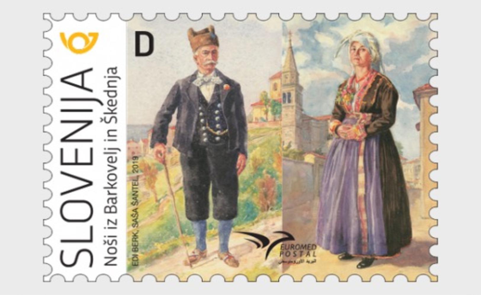 H01 Slovenia 2019 Euromed Postal - Costumes Of The Mediterranean MNH Postfrisch - Slowenien