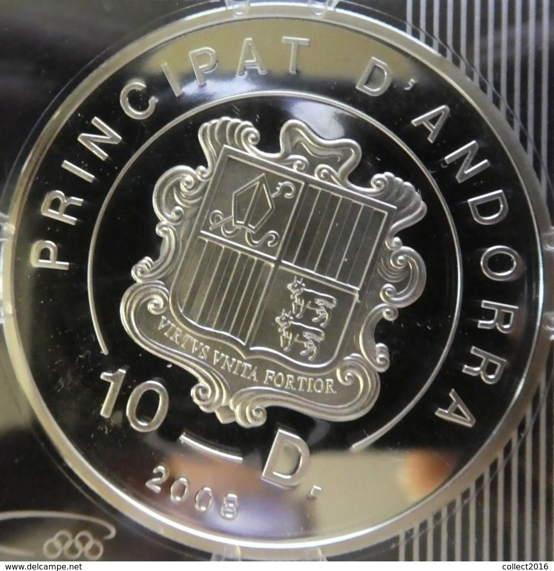 Andorre, 10 Diners 2008 - Silver Proof - Andorre