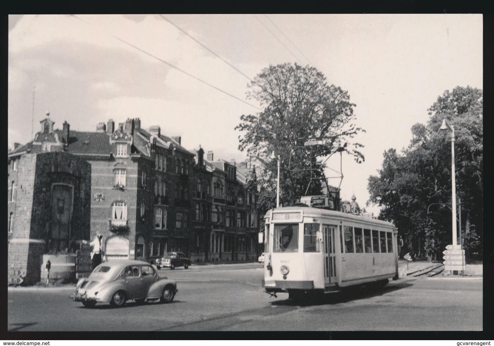 BRABANT  LIJN B  BRUSSEL LEUVEN  MOTORWAGEN N10493 LEUVEN TIENSEBAAN   1960  2 SCANS - Tramways