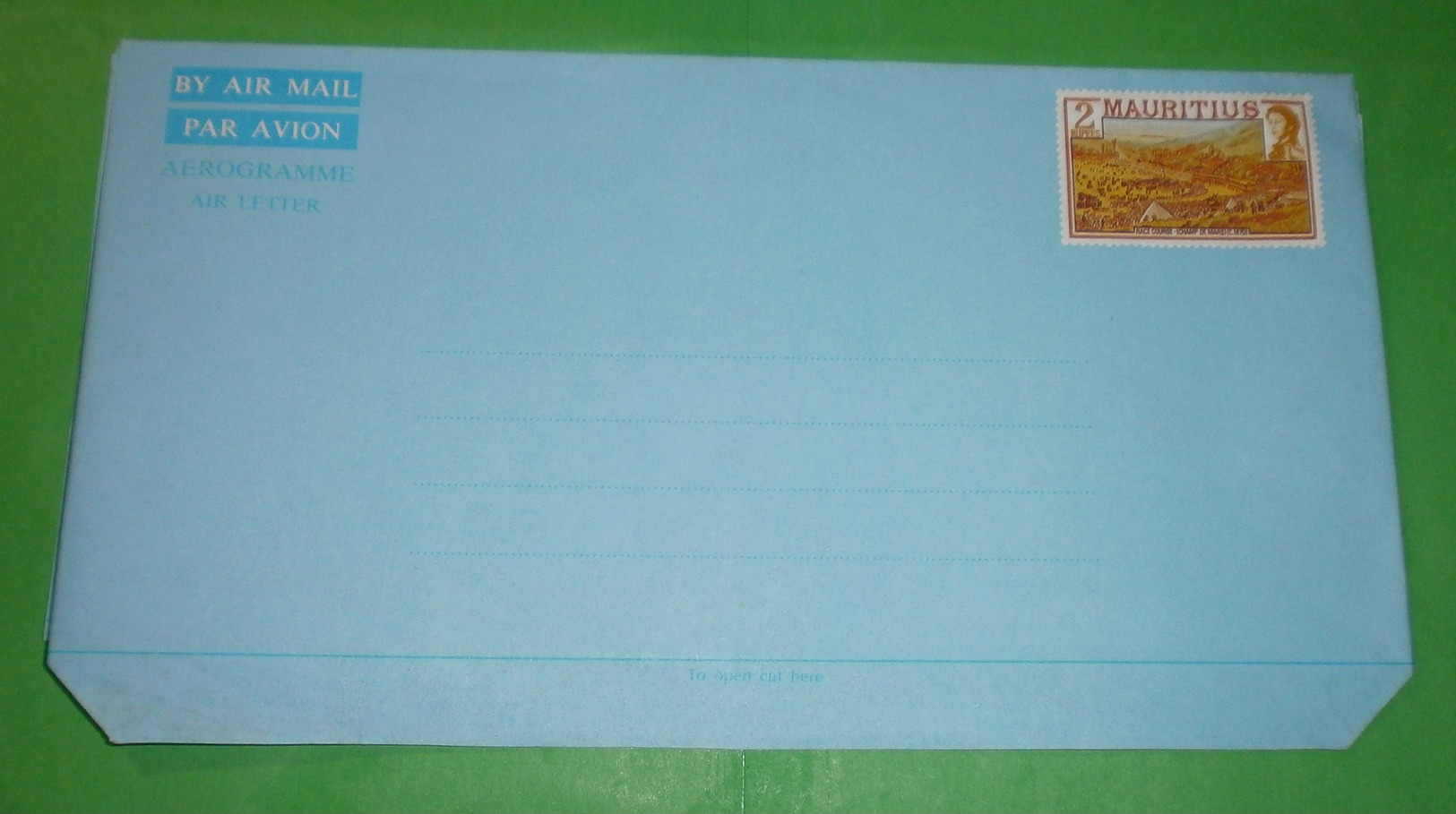 MAURITIUS - Aerogramme - Brief Letter Lettre 信 Lettera Carta письмо Brev 手紙 จดหมาย Cover Envelope (2 Foto)(x034443) - Mauritius (1968-...)