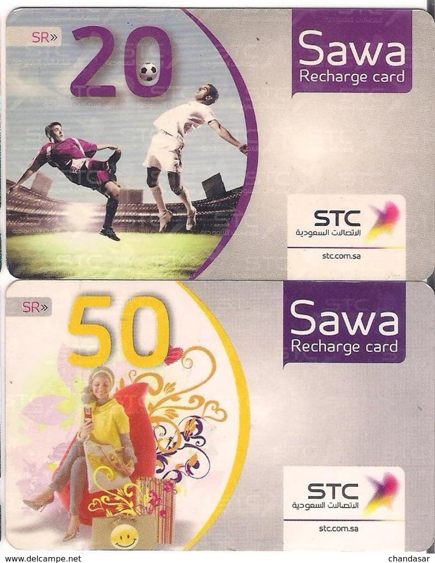 Saudi Arabia, SAWA Prepaid Phone Card, (SR 20&50) - Saudi Arabia