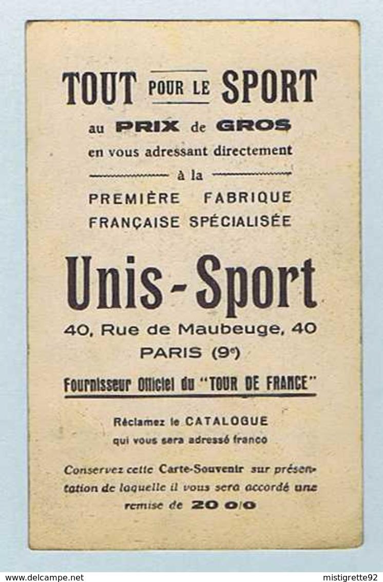 CP CYCLO-SPORT : Louis HARDIQUEST, équipé Par UNIS-SPORT. Cyclisme, Vélo. - Ciclismo