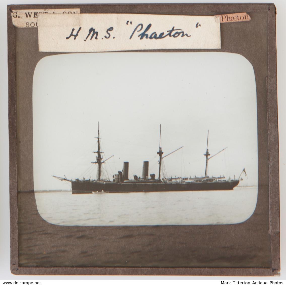 HMS Phaeton - UNITED KINGDOM - Magic Lantern Slide (lanterne Magique) - Diapositiva Su Vetro