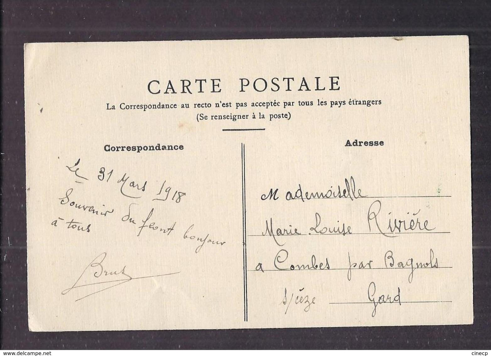 CPA CARTE MILITAIRE Souvenir Du Front Du 83 ème Régiment D' Infanterie 31 Mars 1918 Correspondance Soldat Poilu - Regiments