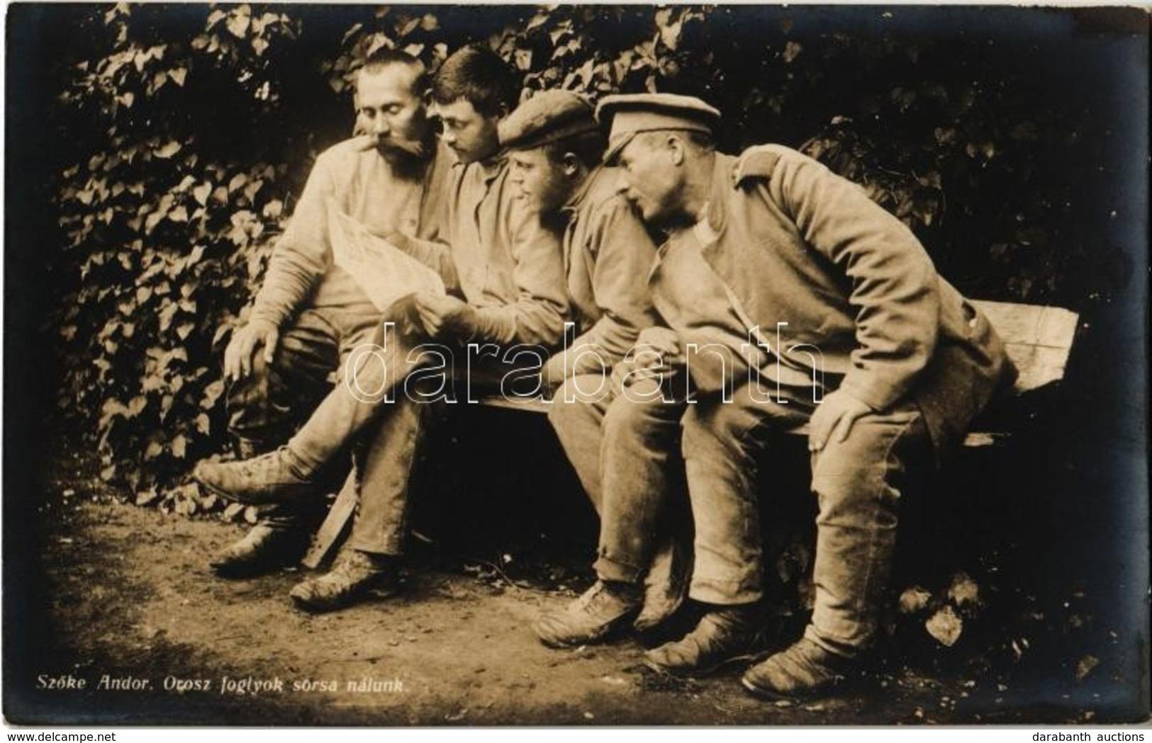 ** T1/T2 Orosz Hadifoglyok Sorsa Nálunk. Szőke Andor Felvétele. Hadifénykép Kiállítás / WWI Austro-Hungarian Military, R - Postales