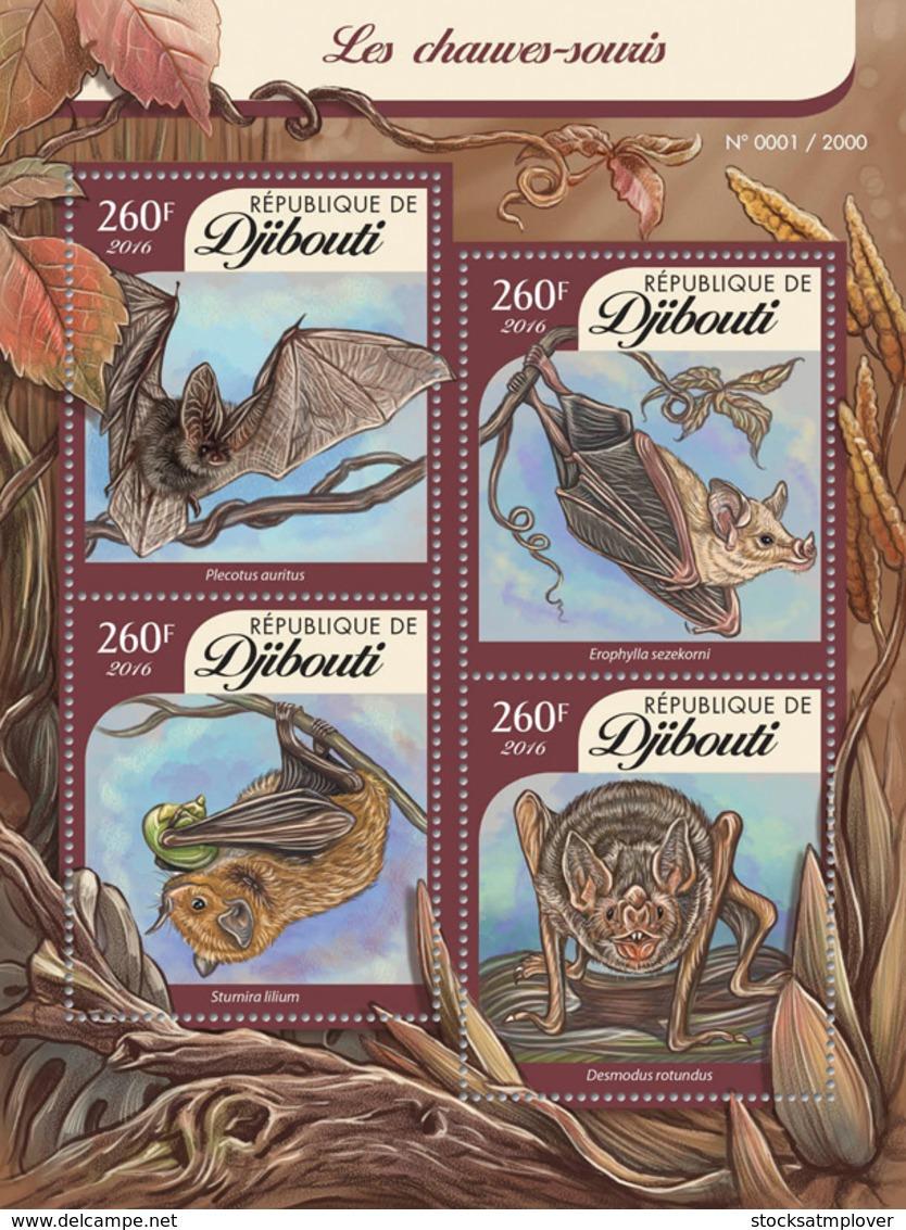 Djibouti 2016 Fauna  Bats - Djibouti (1977-...)