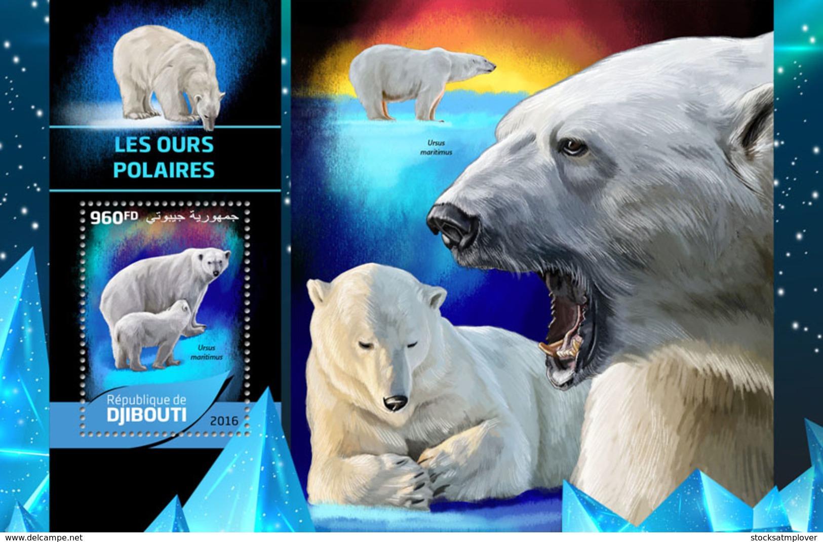 Djibouti 2016 Fauna Polar Bears - Djibouti (1977-...)