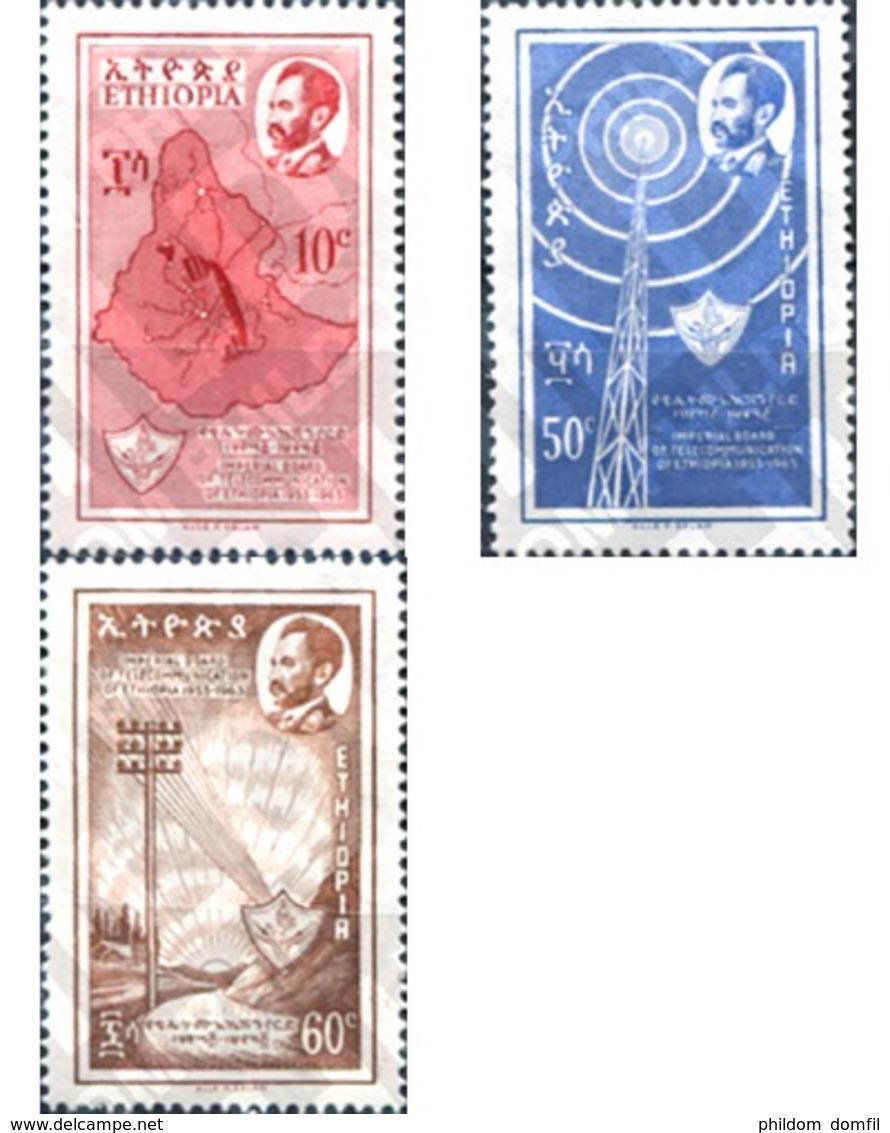 Ref. 312048 * MNH * - ETHIOPIA. 1963. COMMUNICATIONS . COMUNICACIONES - Ethiopie