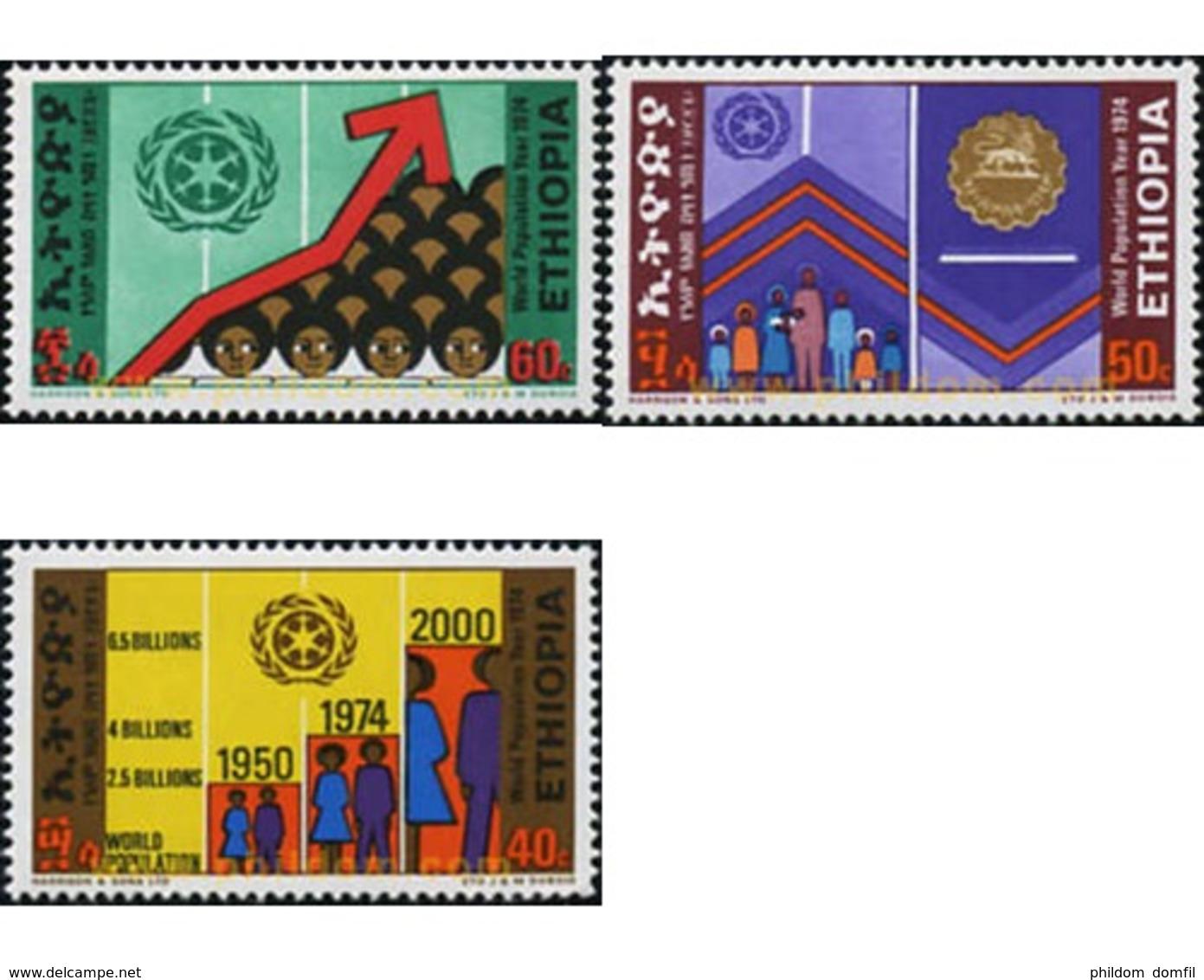Ref. 312071 * MNH * - ETHIOPIA. 1974. POBLACION MUNDIAL - Ethiopie