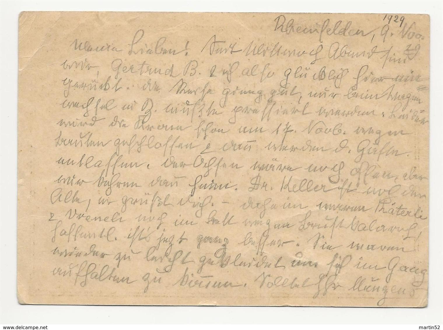 """Schweiz Suisse 1929: Bild-PK / CPI """"BERN FLUGPLATZ"""" Mit O RHEINFELDEN 2.XI.29 - Interi Postali"""