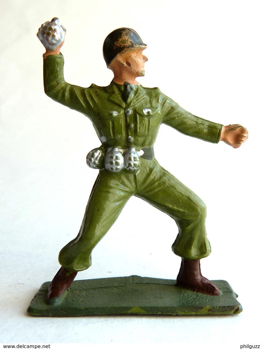 SOLDAT FIGURINE FIG STARLUX 1958-59 Combatant Série Luxe 5009 Grenadier ARMEE MODERNE (3) - Starlux