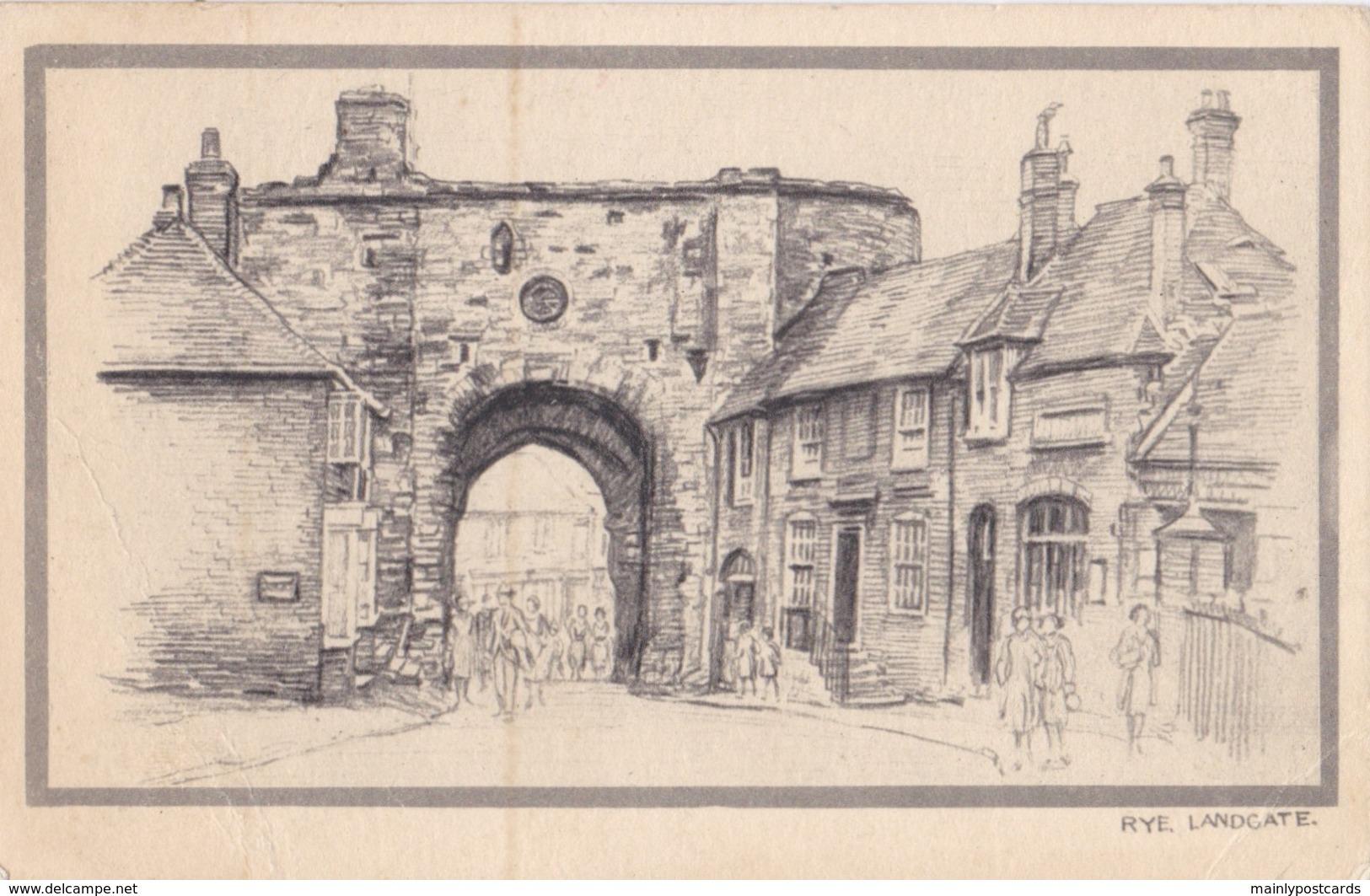 AR45 Rye, Landgate - Artist Drawn - Rye
