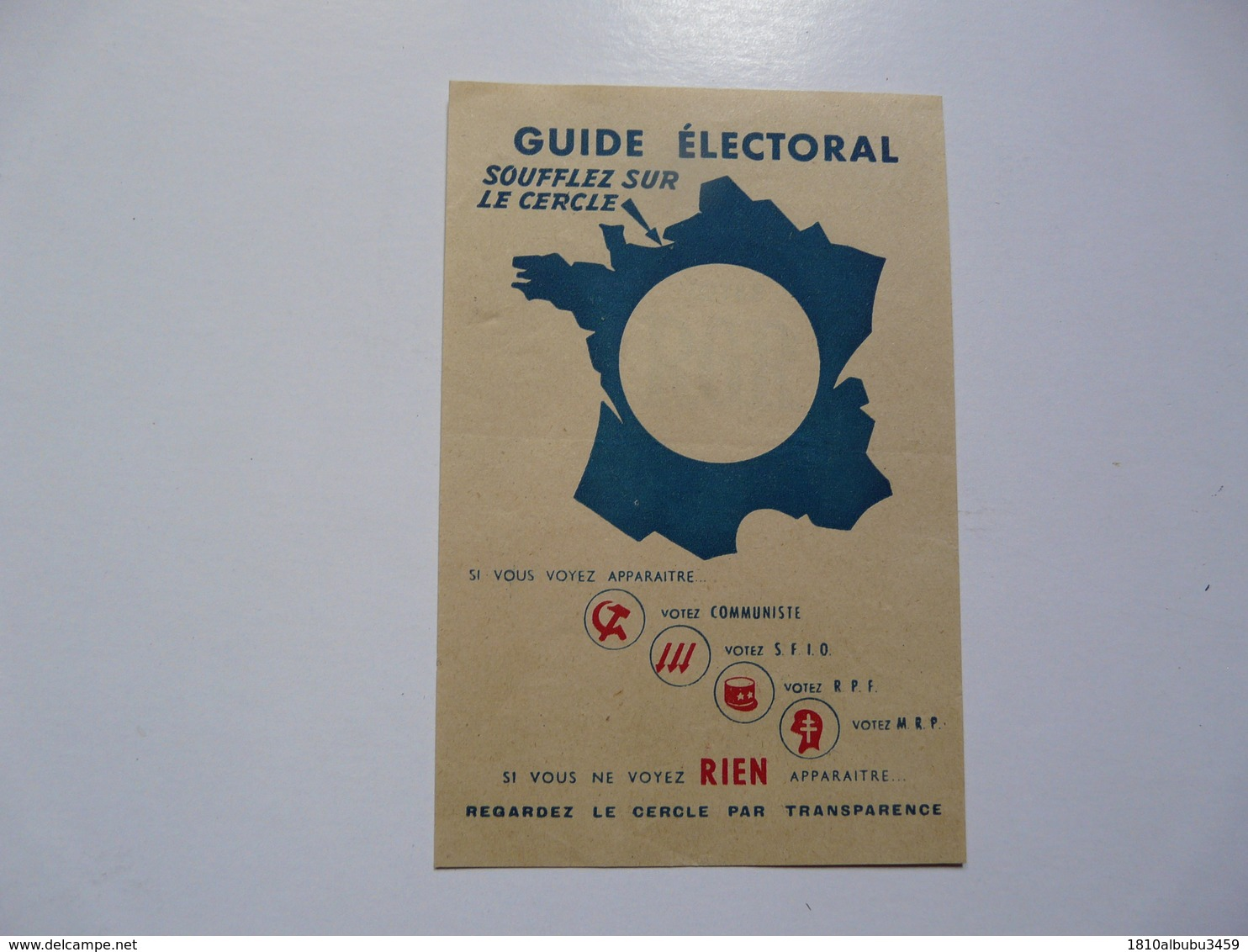 VIEUX PAPIERS - GUIDE ELECTORAL - Zonder Classificatie