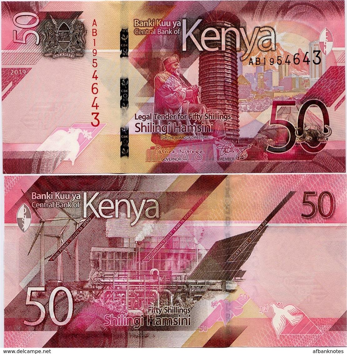KENYA       50 Shilingi       P-New       2019       UNC - Kenya