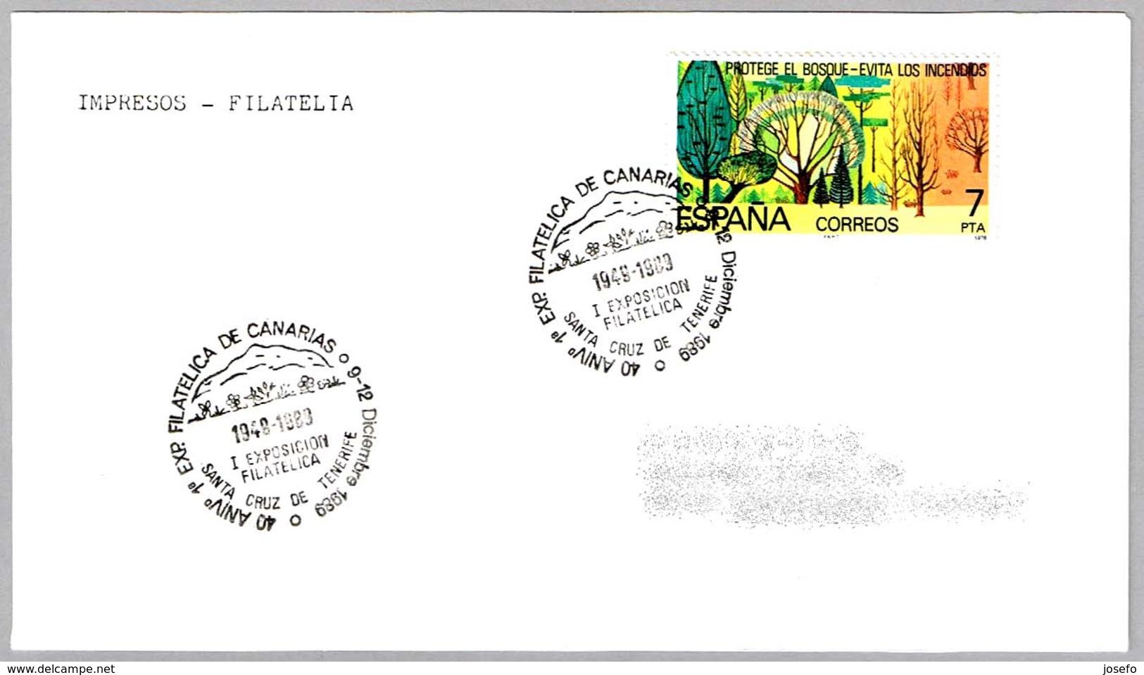 Matasellos 40 Aniversario 1ª EXPOSICION FILATELICA DE CANARIAS. Santa Cruz De Tenerife 1989 - 1931-Hoy: 2ª República - ... Juan Carlos I
