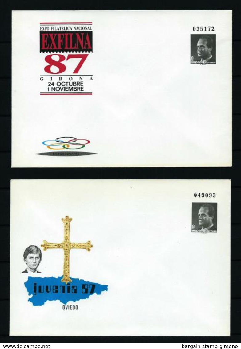 España - LOTE (4 Entero Postal Diferentes) Nuevo - Enteros Postales