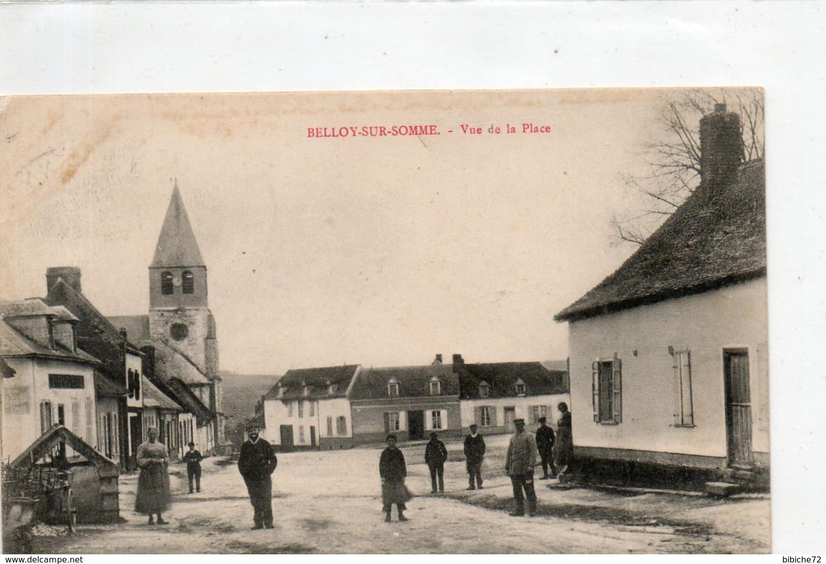 BELLOY SUR SOMME - Vue De La Place - France