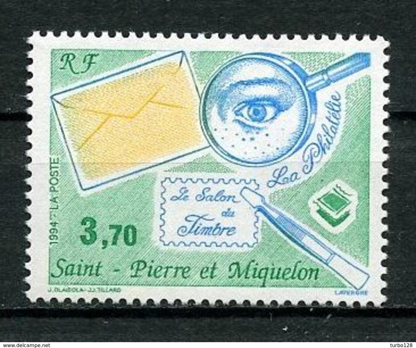 SPM MIQUELON 1994 N° 606 ** Neuf MNH Superbe C 2 € Le Salon Du Timbre Paris Pince Loupe Stamps - St.Pierre Et Miquelon