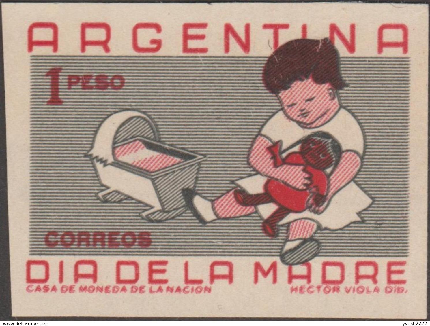 Argentine 1959 Y&T 610 Michel 712. Essai. Fête Des Mères. Enfant Avec Poupée - Puppen