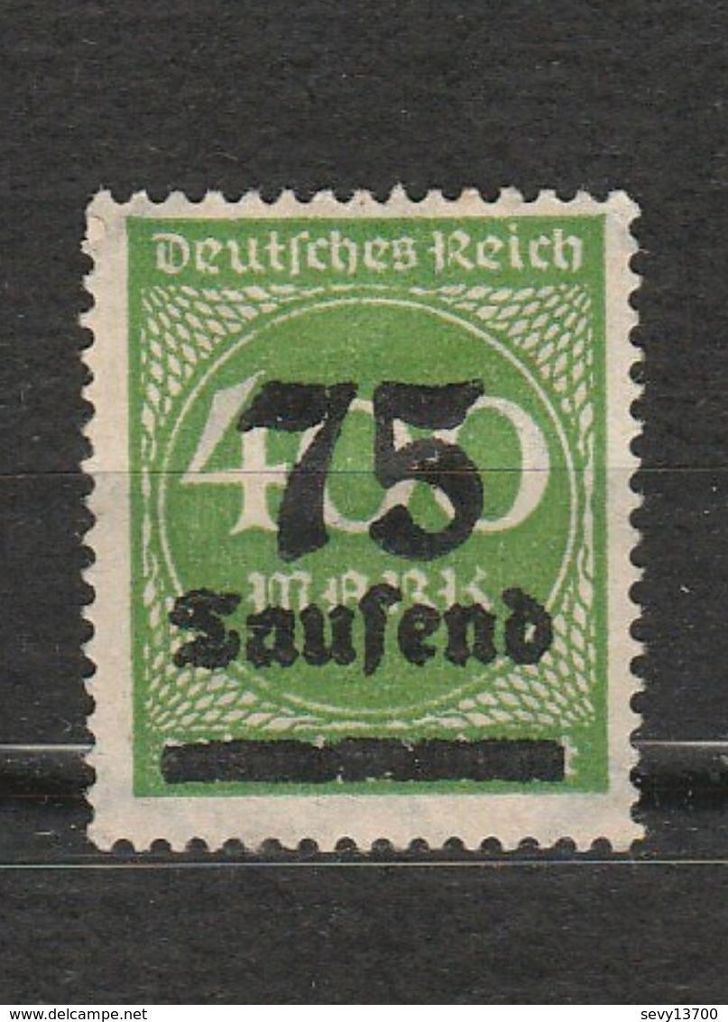Allemagne - Deutsches Reich - Chiffre - Inflation - 75 Tausend - Année 1923 Mi 287 - Deutschland